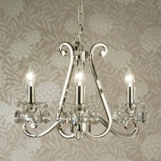 Oksana Chrome Crystal Clear Chandelier