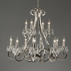 Oksana Nickel 12 Light Chandelier