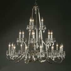 Oksana Nickel 21 Light Chandelier