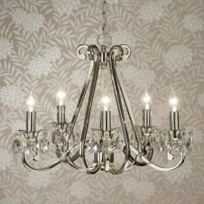 Oksana Nickel 5 Light Chandelier