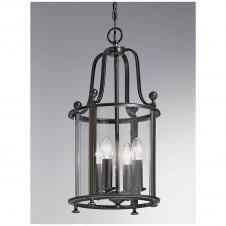 Pasillo Antique Bronze 4 Light Lantern