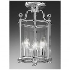 Pasillo Chrome 3 Light Flush Lantern