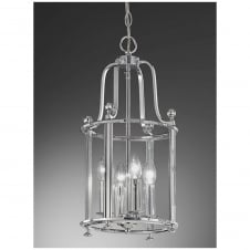 Pasillo Chrome 4 Light Lantern