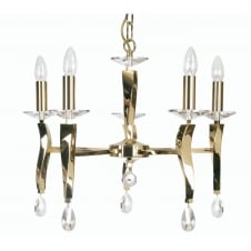 Aire 5 Light Pendant Gold