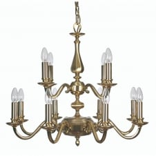 Aylesbury 12 Light Pendant Satin Gold