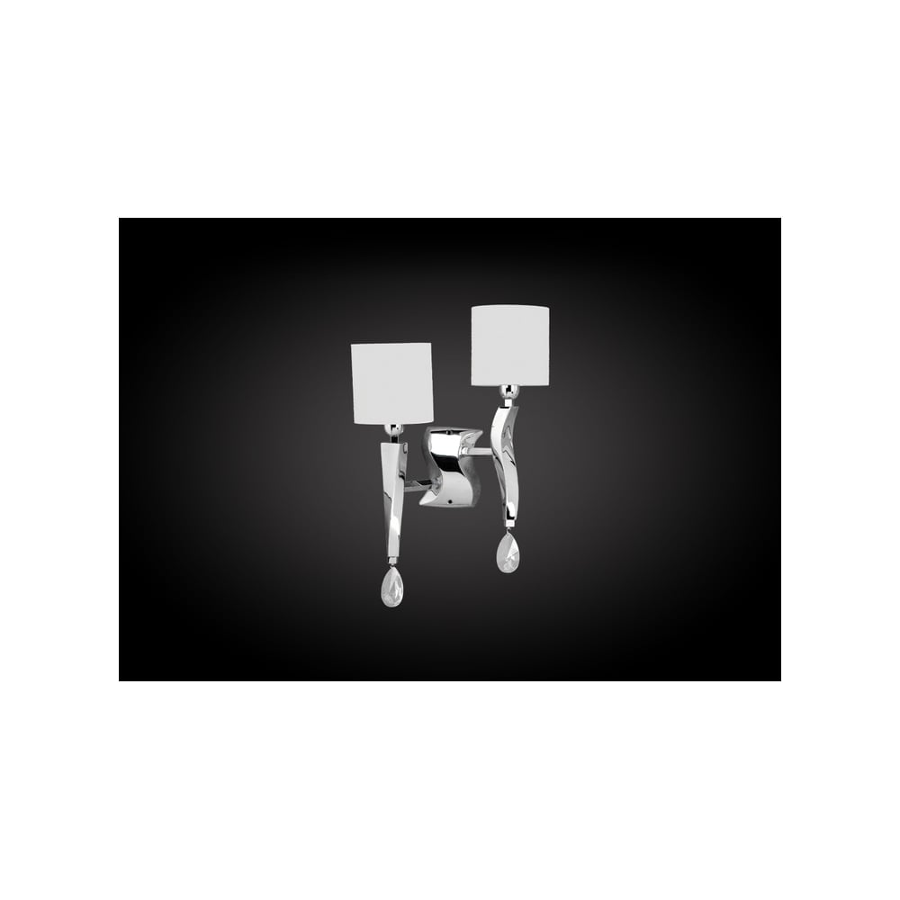 Double Wall Lights Chrome : Oaks Lighting Pedret 719/2CH Aire Double Wall Light Chrome ideas4lighting