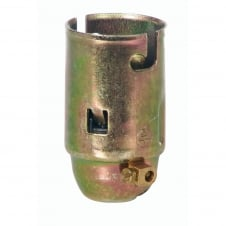 B22 Brass Lampholder With Earth tag