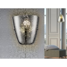 Quasar Chrome Wall Lamp, 1L