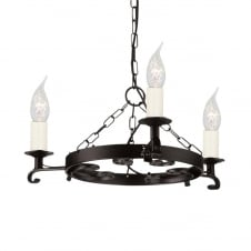 Rectory Gothic 3 Light Chandelier Black