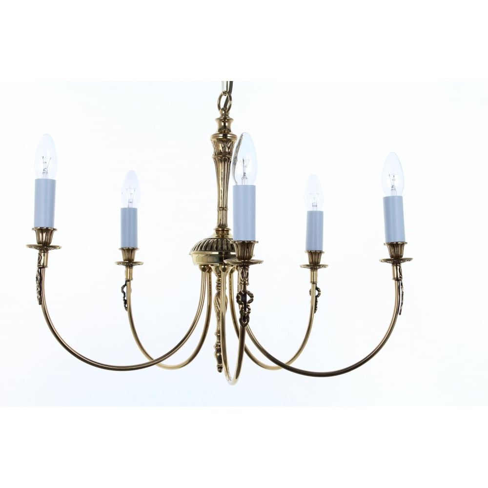 Light Ceiling Pendant In Polished Br