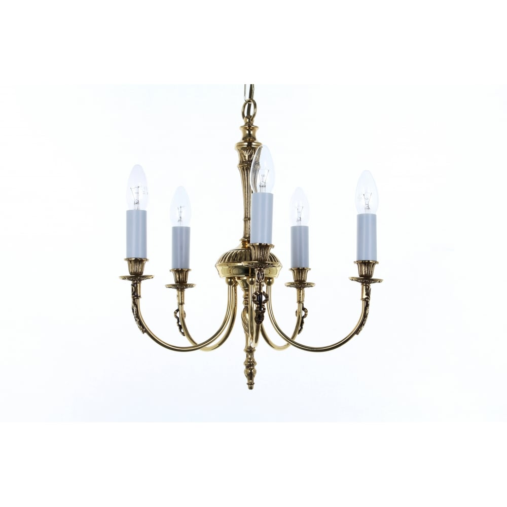 Richmond Stylish 5 Light Ceiling Pendant In Polished Br