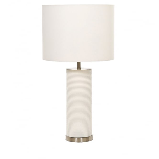 Elstead Ripple Cylinder Table Lamp