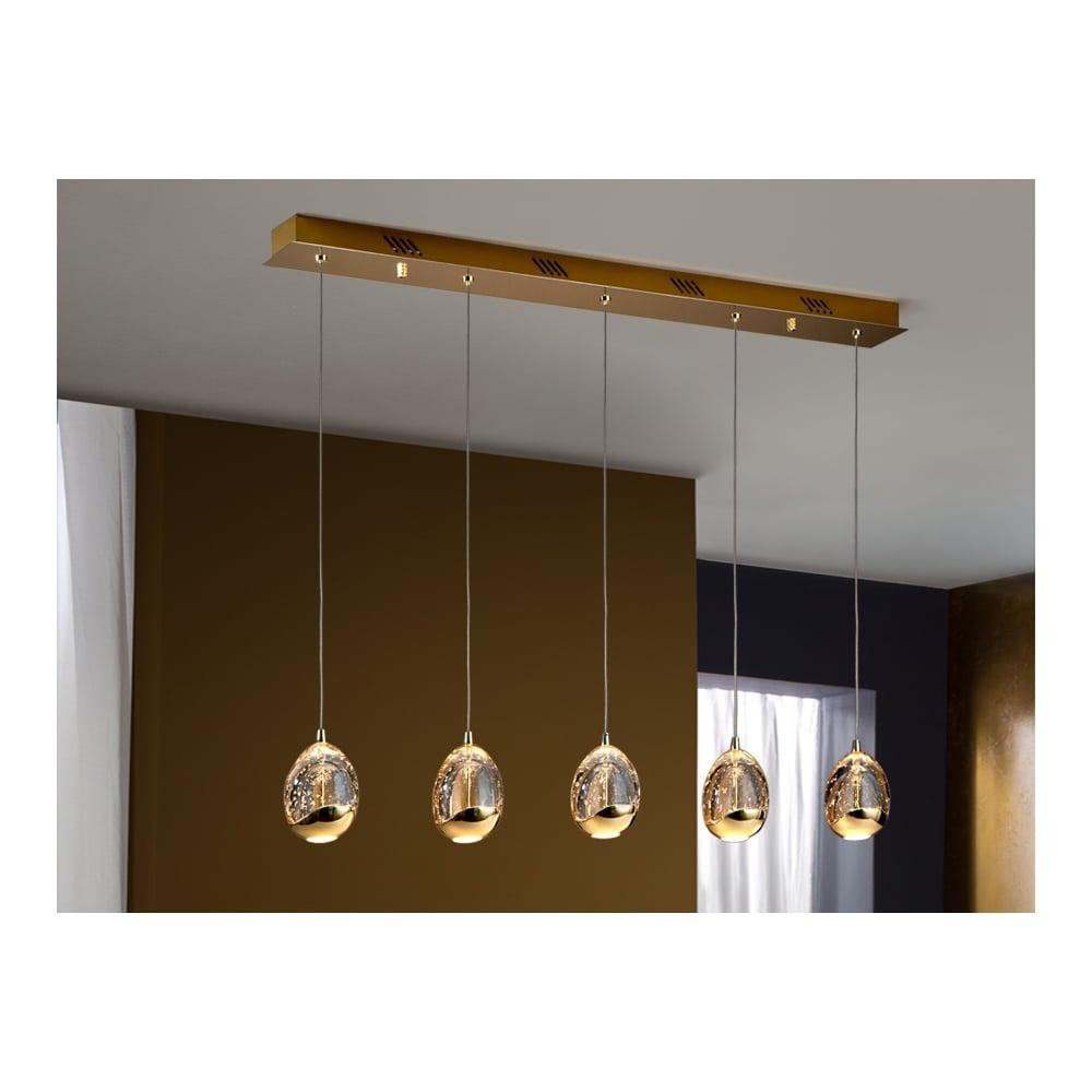 Schuller 783627 Rocio 5 LED Lamp, Gold