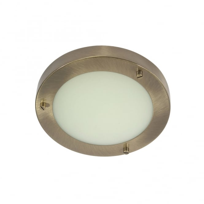 Oaks Rondo/18 Antique Brass G9 Flush Light
