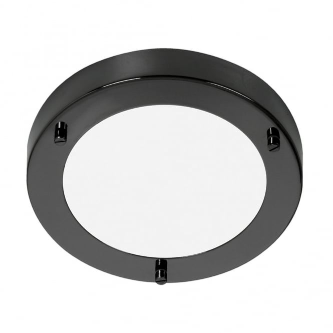 Oaks Rondo/18 Mirror Black G9 Flush Light