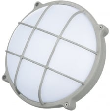 Round Graphite Grey Crosshatch 25W LED Outdoor Bulkhead