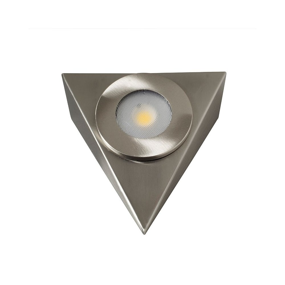 new concept a23a5 48127 LED Robus Royal 2.5W LED Mains Triangular Cabinet Light - Brushed Chrome