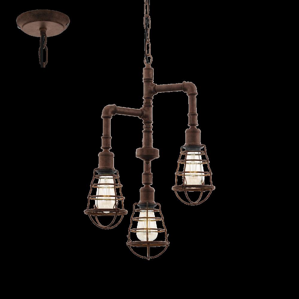 Eglo port seton rustic ceiling light ideas4lighting for Pipe ceiling lighting
