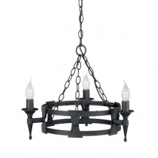 Saxon 3lt Chandelier Black