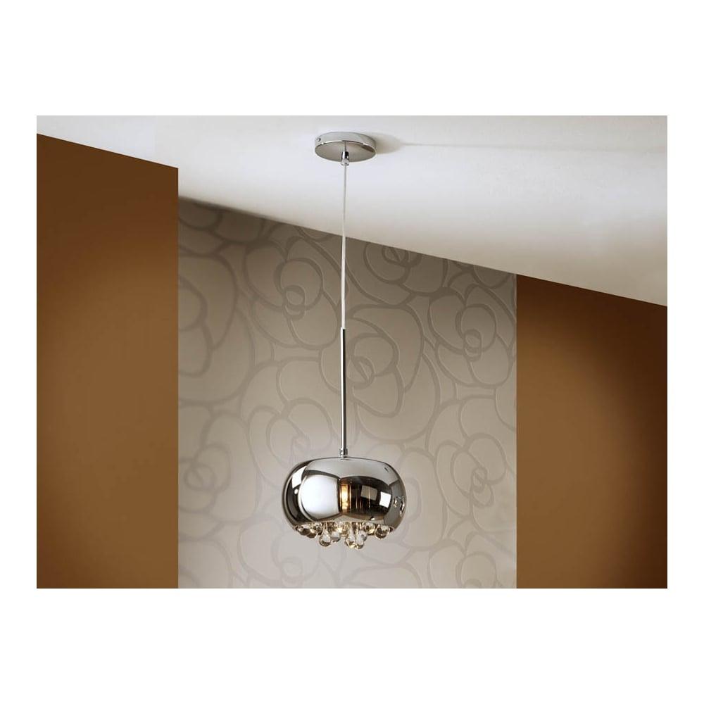 Argos Chrome Oval Dome Ceiling Light Pendant