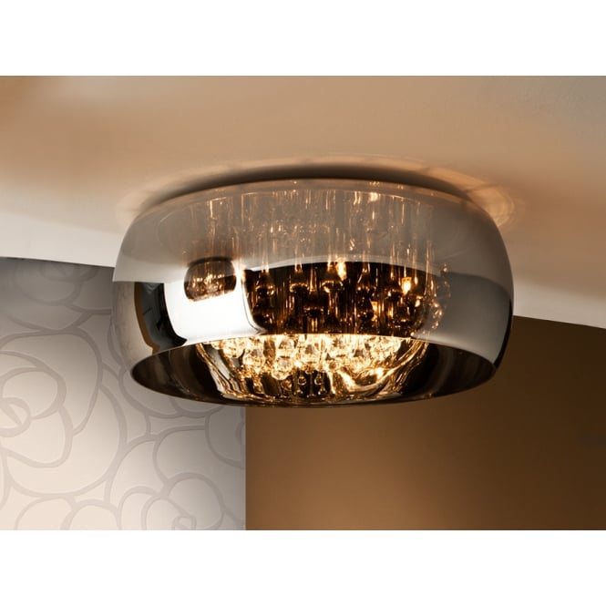 argos oval glass bowl flush ceiling light fitting. Black Bedroom Furniture Sets. Home Design Ideas