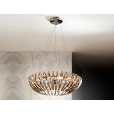 Ariadna Open Oval Champagne Chandelier