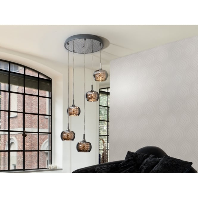 Schuller Arian 5 Glass Dome Cluster Pendant