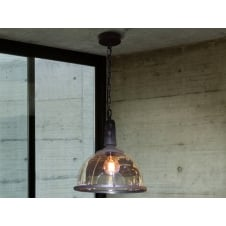 Bistro Cafe Molded Glass Ceiling Pendant