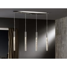 Cosmo Chrome Hanging Bar Ceiling Pendants