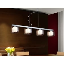 Cube 4 Light Bar Ceiling Pendant