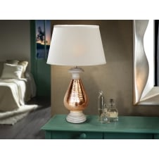 Ishara Moroccan Copper Table Lamp and Shade