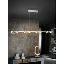 Orbita 4 Light Chrome LED Lamp Pendant