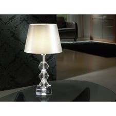 Corinto Clear Table Lamp, 1L