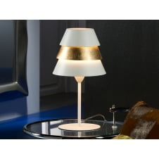 Isis White/Gold Table Lamp,