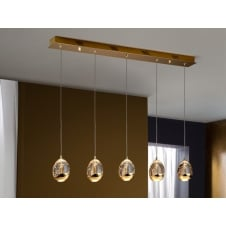Rocio 5 LED Lamp, Gold