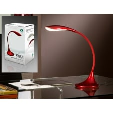 Swan LED Red Table Lamp