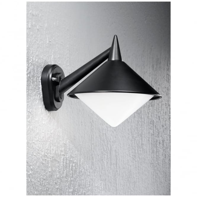 Franklite Sera Black Exterior 1 Light Wall Bracket