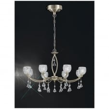 Sherrie Bronze 8 Light Ceiling Fitting with crystal drops