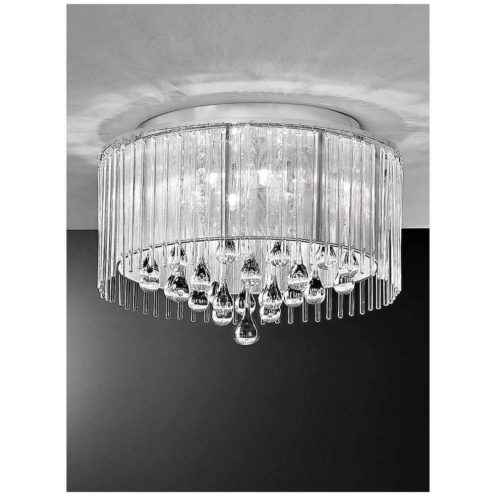 unusual ceiling lighting.  Lighting Spirit Chrome And Crystal 6 Light Flush Ceiling Light Intended Unusual Lighting I