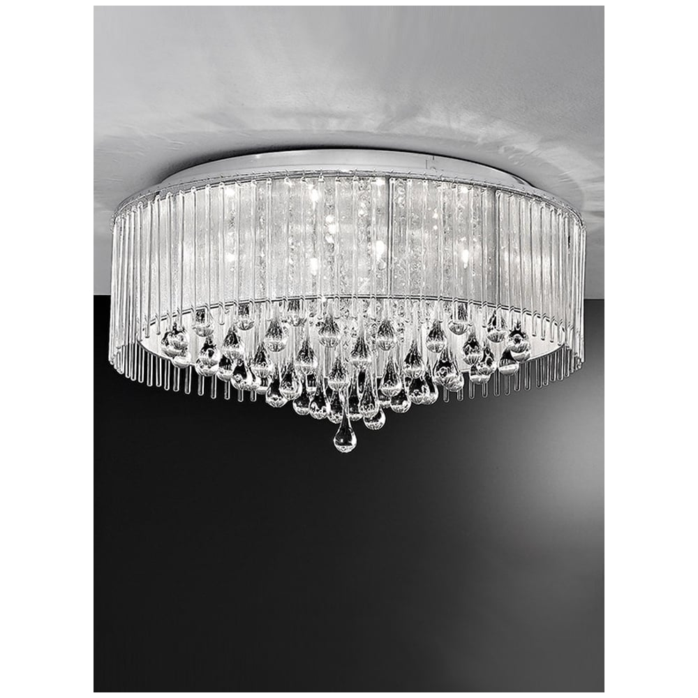 Franklite fl21608 spirit chrome and crystal 600mm 8 light flush spirit chrome and crystal 8 light flush ceiling light mozeypictures Choice Image