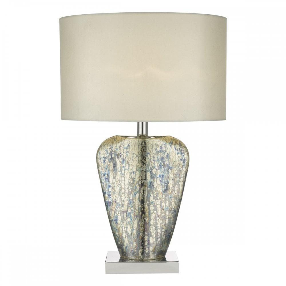 Dar Syracuse Table Lamp Mercury Gold CW Shade