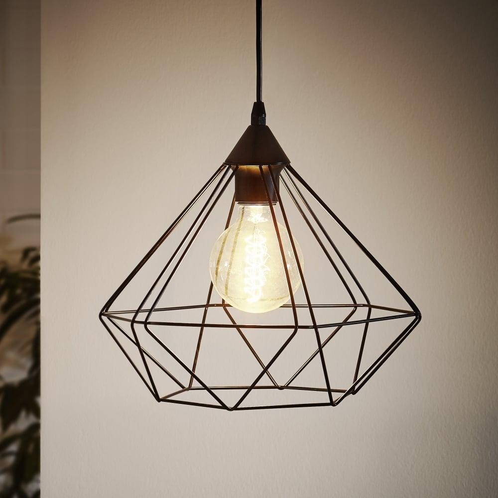 Eglo 94188 Tarbes Vintage Geometric Black Ceiling Pendant