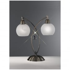 Thea Bronze 2 Light Table Lamp