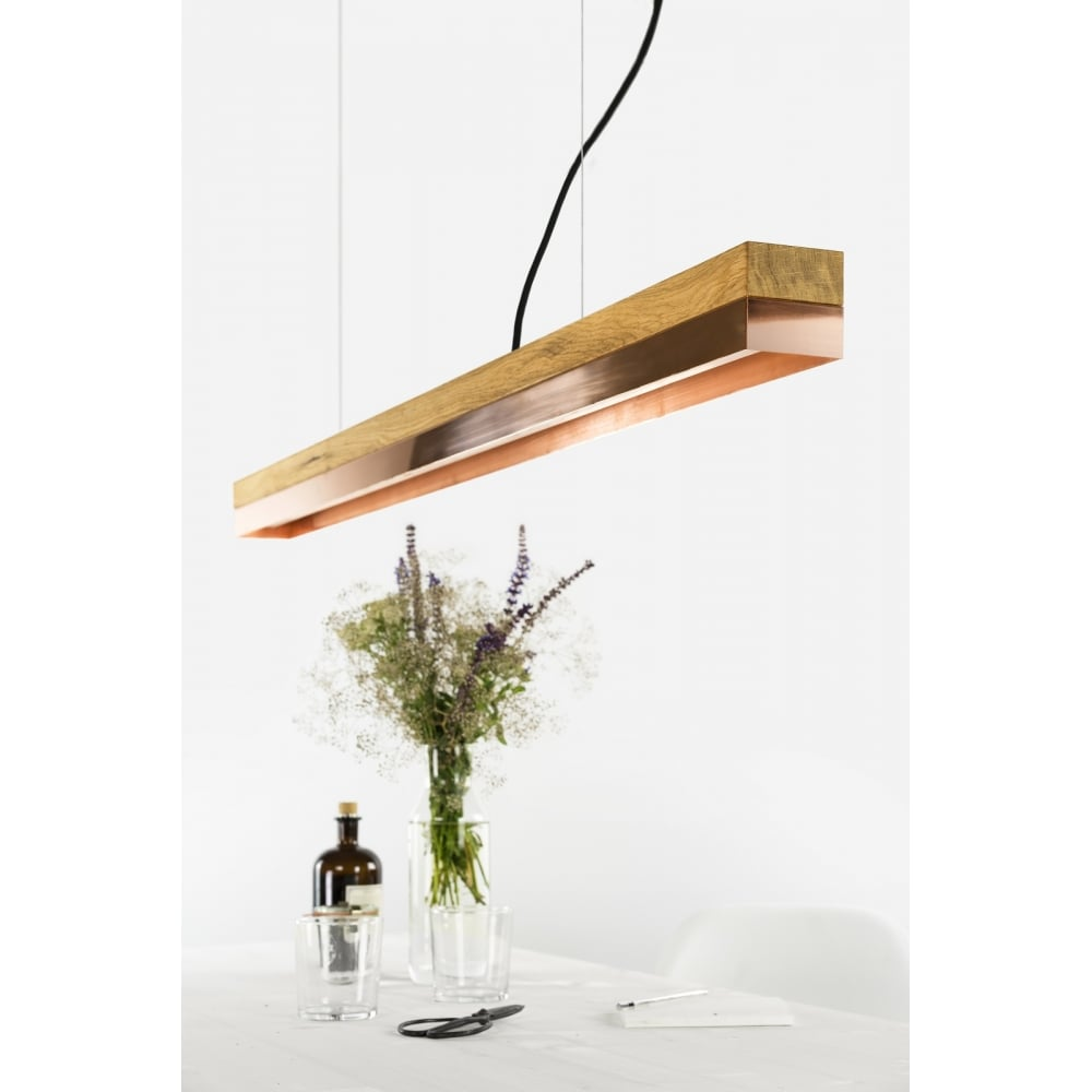 Gant lights timber copper bar ceiling light pendant timber copper bar ceiling light pendant mozeypictures Image collections