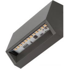 Horizontal 1.4W LED Step Light, Dark Grey