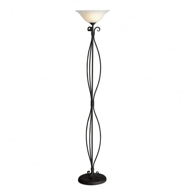 Elstead Torchiere Uplighter Black