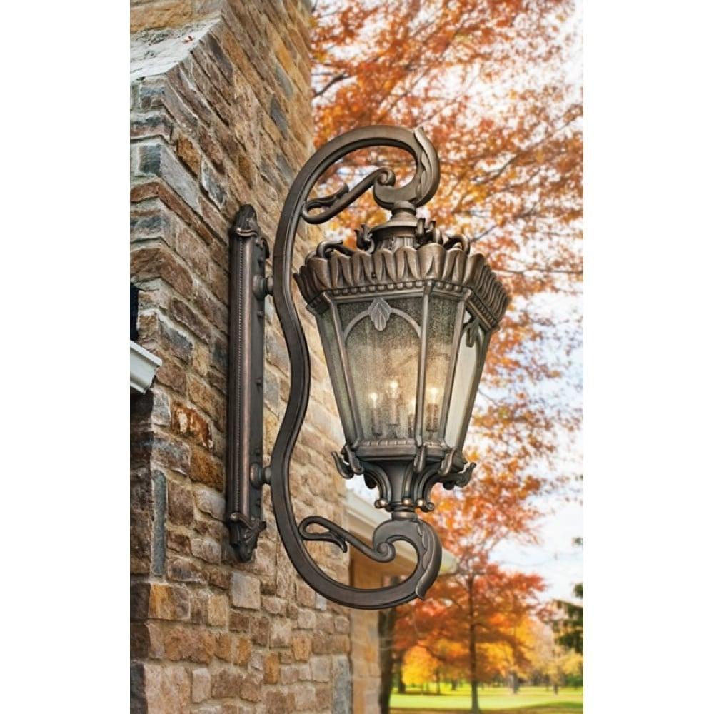 Tournai American 4 Bulb Extra Large Wall Gothic Lantern Light