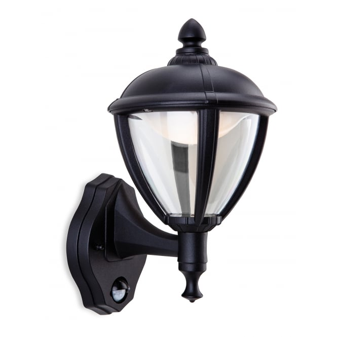 Firstlight Traditional Black Motion Sensor Outdoor LED Wall Latern