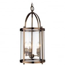 Imperial Vintage Brass 3 Light Lantern