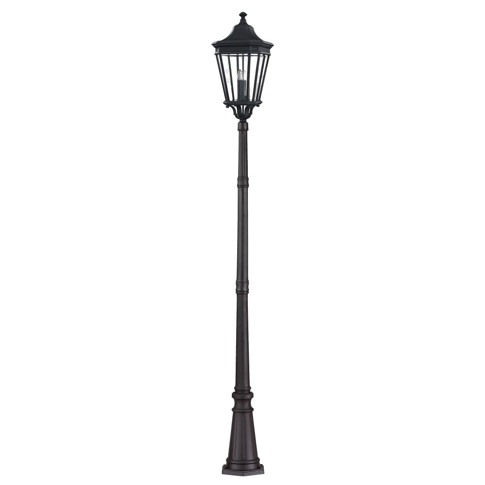 Victorian Tall Driveway Black Post Lantern Light